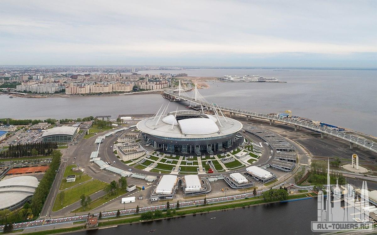 Stadion Sankt Peterburg Zenit Arena Vysota 110 M V Sankte Peterburge Fotografii Opisanie Adres