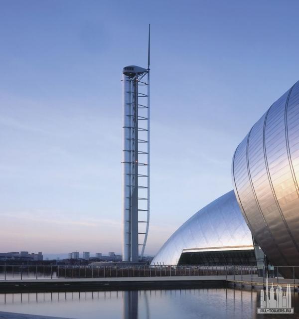 башня глазго (science centre tower )